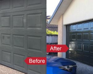 Restore faded garage doors with an Everbrite DIY Coating