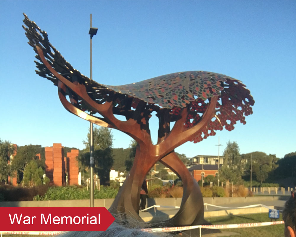 Seal and protect Rusted Metal Sculptures with an Everbrite Coating
