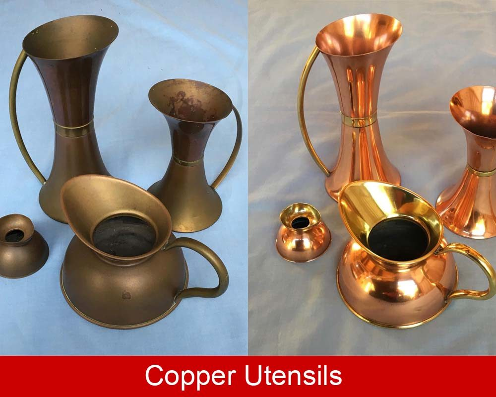 Copper cleaned and polished then coated with ProtectaClear DIY coating to stop tarnish