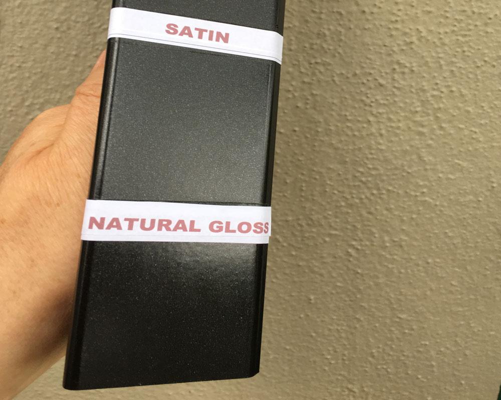 Natural Gloss or Satin finish?