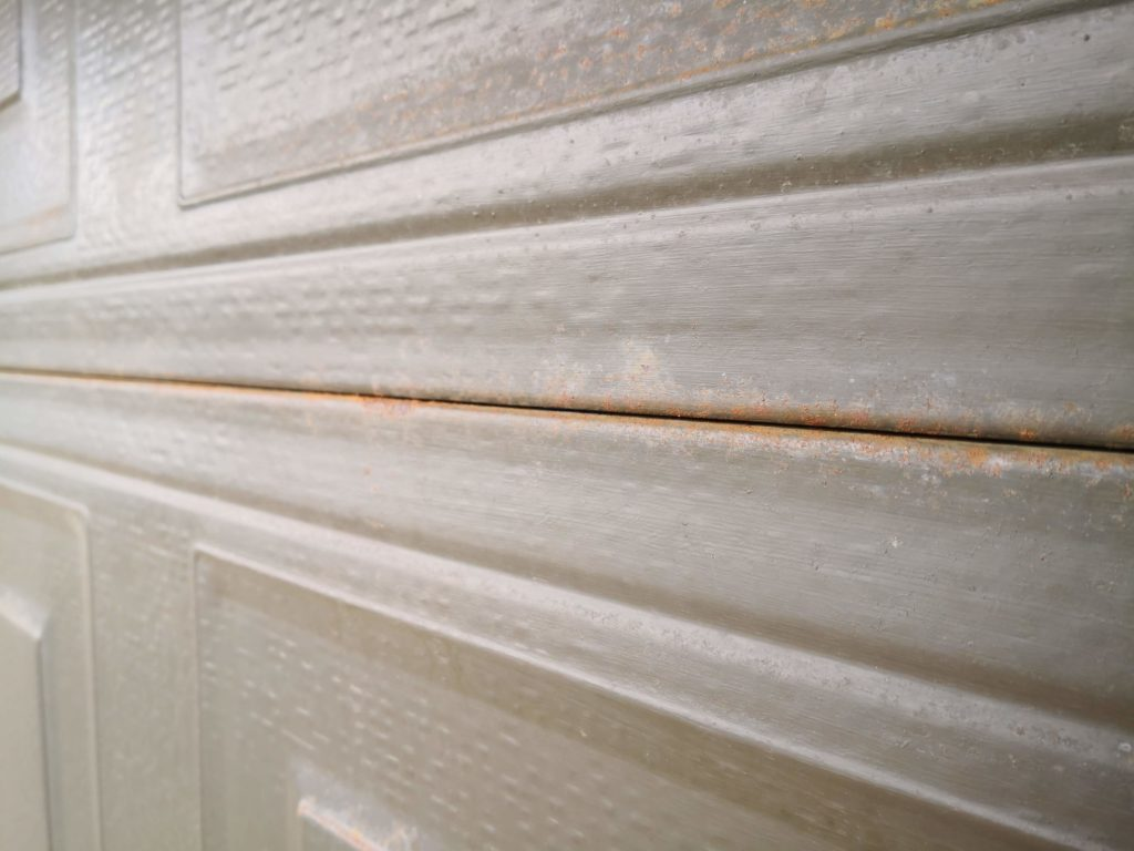 This garage door can be restored with an Everbrite Coating