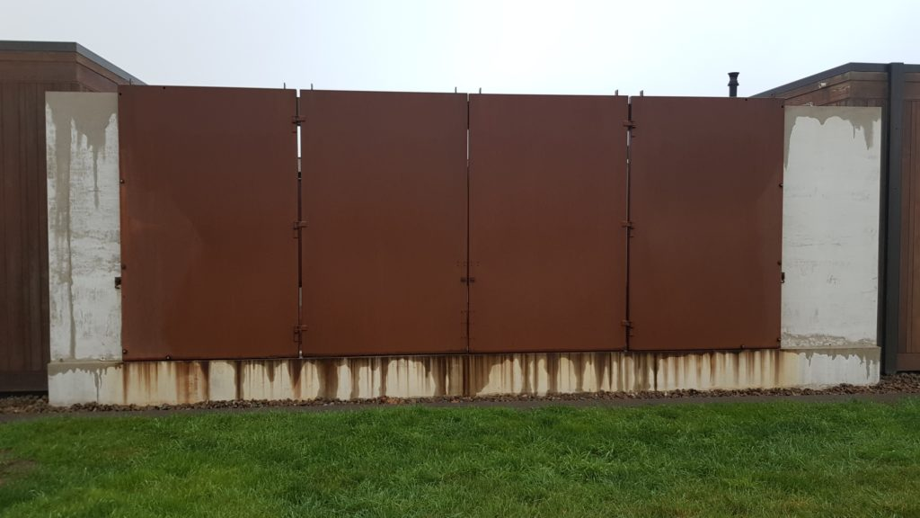 Everbrite Coating would prevent the rust drip and staining problems