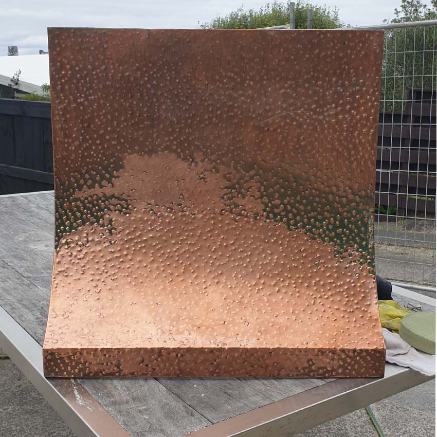 Copper can be restored then coated with Everbrite to stop tarnish