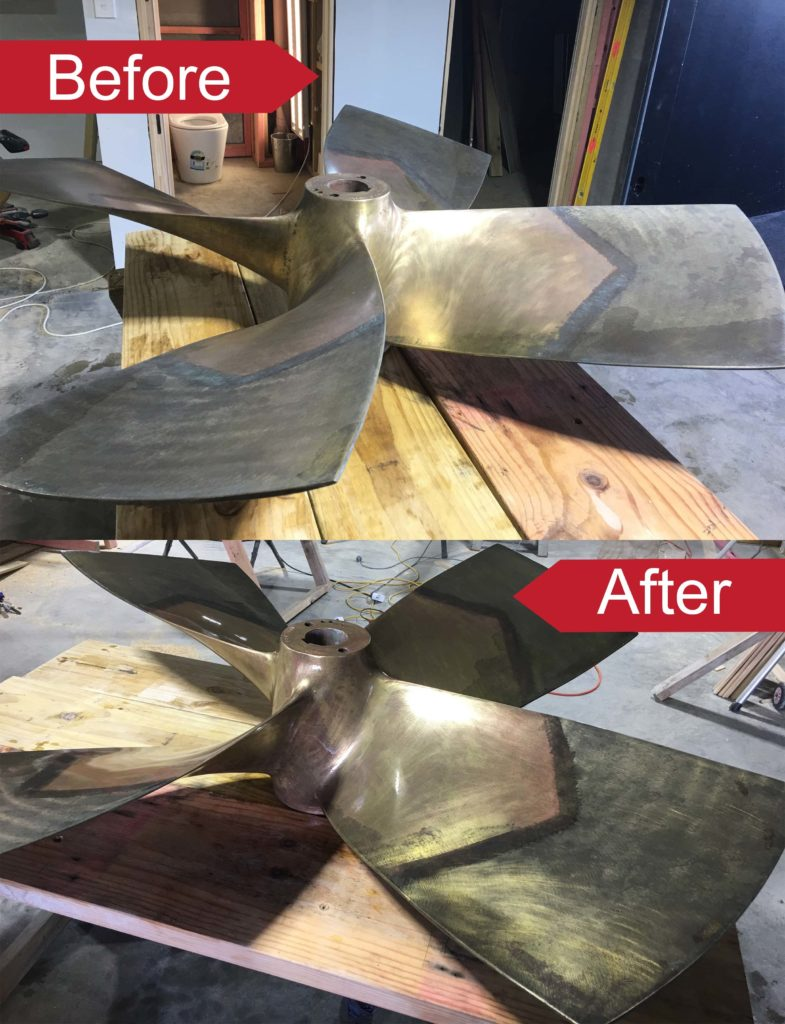 bronze fan coated in an Everbrite Coating to stop tarnish and corrosion