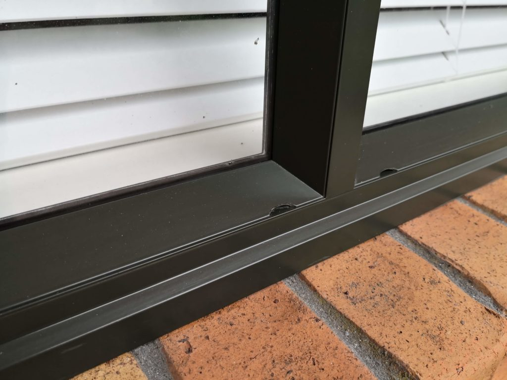 Restored aluminium joinery using an Everbrite Coating