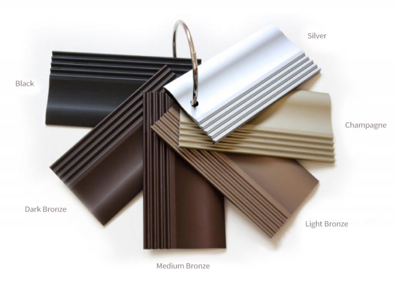 Colour range of anodised metals