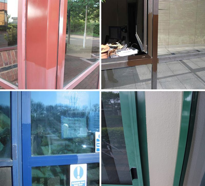 Every colour of the rainbow - old faded powder coated aluminium joinery can be restored with Everbritee restored and protected with Everbrite Protective Coating