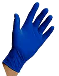 Nitrile Gloves do not get sticky when applying an Everbrite Coating