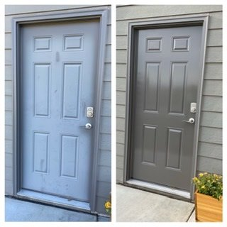 Door's colour restored and protected with Everbrite Protective Coating