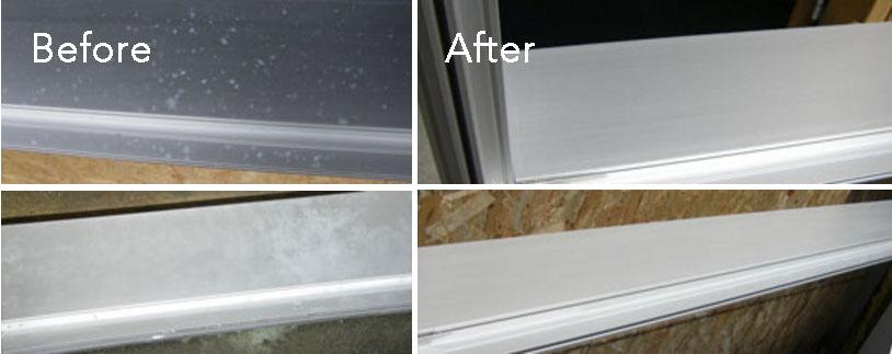 Repair stained anodised aluminium