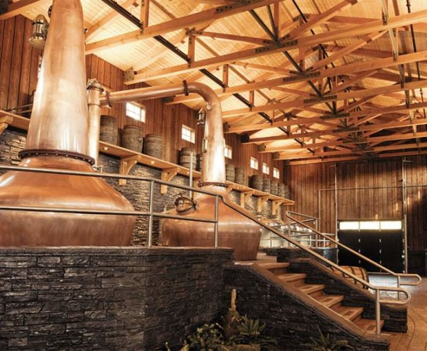 The copper in the Shelter Point Distillery Vancouver Island is coated with ProtectaClear