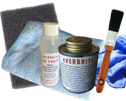 Everbrite Coating 250mL Kit in Natural Gloss and Satin finishes