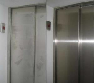 The lifts in the Empire State Building are coated with ProtectaClear – do you notice the before and after?