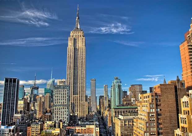 Stainless steel fittings in the Empire State Building have been coated with ProtectaClear