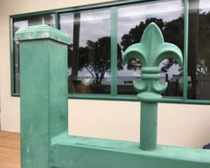 The old faded powder coated gate could be restored to look like new again with an Everbrite Coating