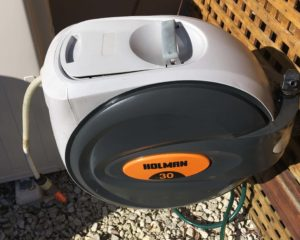 Restored Hose reel - faded hard plastic coated with Everbrite