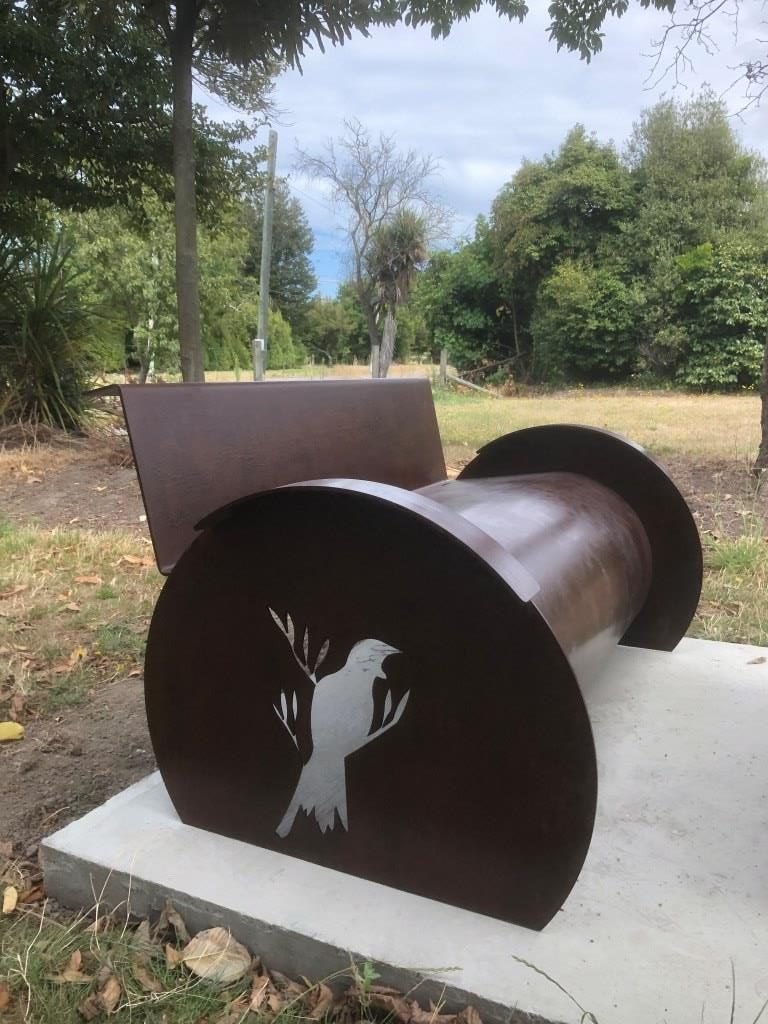 Rusted Corten Memorial is sealed with Everbrite Protective Coating