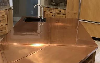 High touched items like copper metal bench tops should be coated with CrobialCoat to inhibit bacterial growth