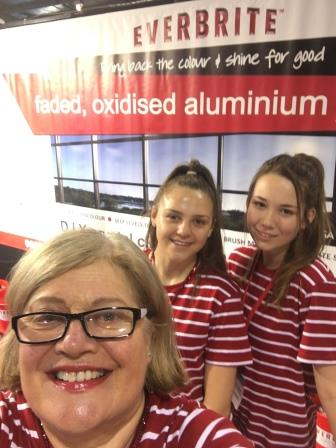 Everbrite Coatings Staff at the Waikato Home Show - the girls