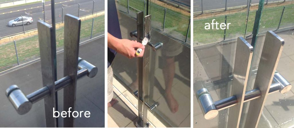 Stainless steel at Hampton Downs Raceway is protected with ProtectaClear Coating