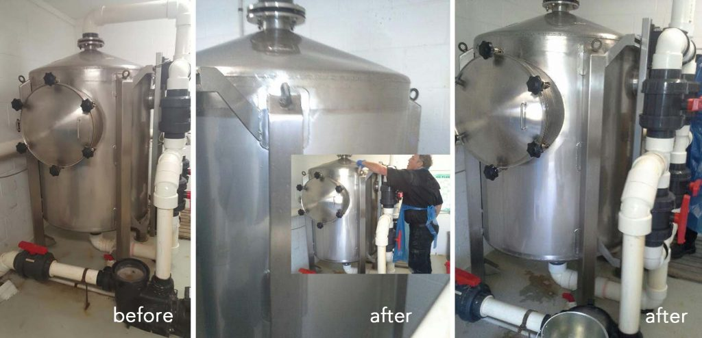 Stainless steel at the Mason Clinic is protected with ProtectaClear
