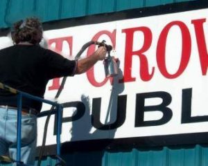 Restore faded signage with Everbrite Protective Coating and protect from UV damage