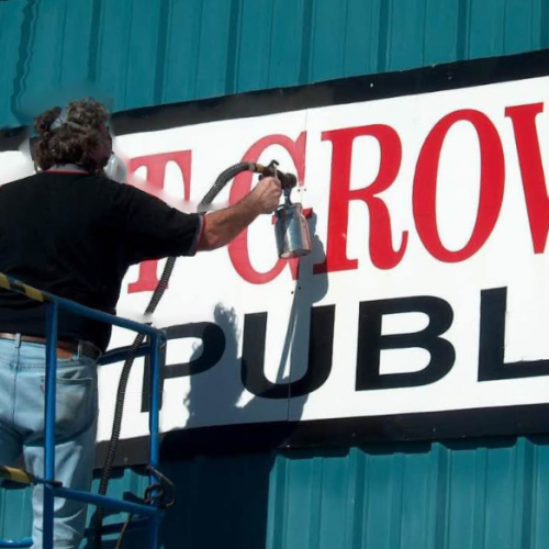 Restore the faded colour on signage with Everbrite Coating